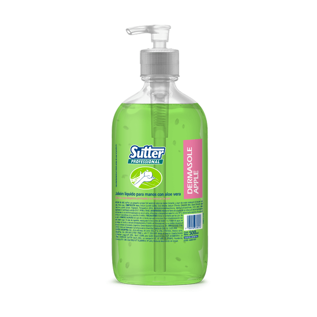 Dermasole Apple Shampo de Manos Perfumado 500 ml