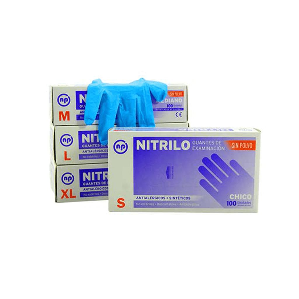 Guante de Nitrilo Azul Grande