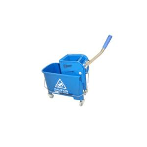 Carro Mini Azul con Prensamopas x 20 lts