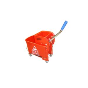 Carro Mini Rojo con Prensamopas x 20 lts